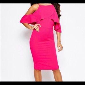 ASOS cold shoulder dress